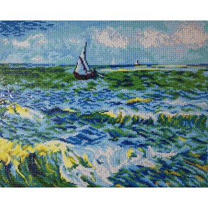 Diamond Dotz Seascape At Saint Maries Van Gogh Kit