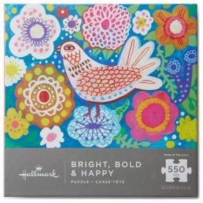 Bright Bold & Happy 550-Piece Puzzle