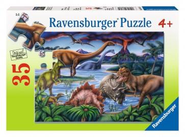 Rburg - Dinosaur Playground Puzzle 35pc
