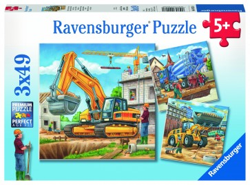 Rburg - Construction Vehicle 3x49pc Puzzle
