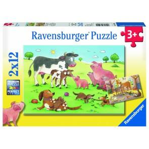 Rburg - Animal's Children 2x12pc Puzzle
