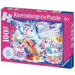 Rburg - Amazing Unicorns Glitter Puzzle 100pc