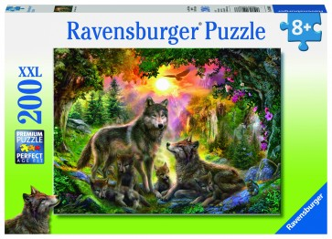 Rburg - Wolf Family In The Sun Puzzle 200pc