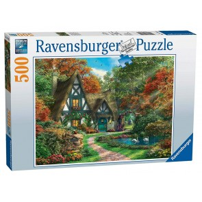 Ravensburger Cottage in Autumn Jigsaw Puzzle