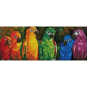 Diamond Dotz Rainbow Parrots Kit
