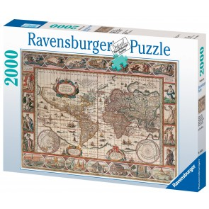 Rburg - Map of World From 1650 Puzzle 2000pc