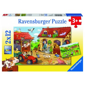 Rburg - Working on the Farm Puzzle 2x12pc