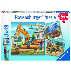Rburg - Construction Vehicle 3x49pc Puzzle