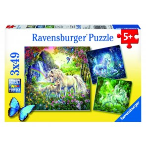 Rburg - Beautiful Unicorns Puzzle 3x49p