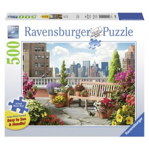 Rburg - Rooftop Garden Lge Form Puzzle 500pc