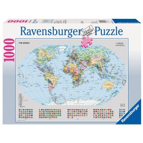 Rburg - Political World Map Puzzle 1000pc