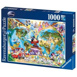 Rburg - Disney World Map Puzzle 1000pc