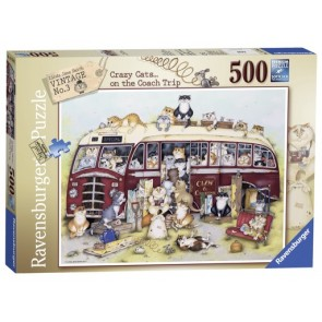 Ravensburger Crazy Cats on the Coach Trip Jigsaw Puzzle