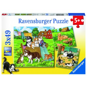 Rburg - Cats And Dogs Puzzle 3x49pc