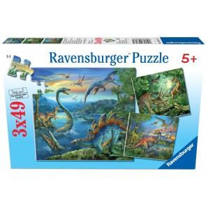 Rburg - Dinosaur Fascination Puzzle 3x49pc