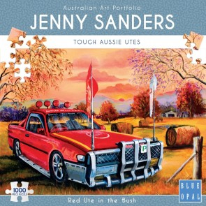 Blue Opal Red Ute in the Bush Jigsaw Puzzle