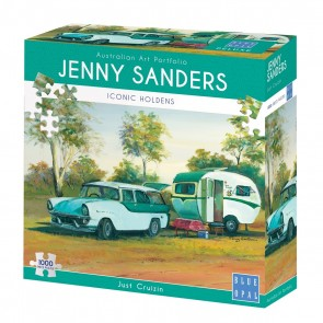 Blue Opal Jenny Sanders Just Cruzin Jigsaw Puzzle