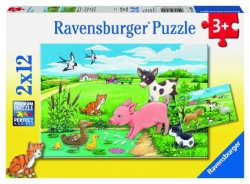 Rburg - Baby Farm Animals 2x12pc Puzzle