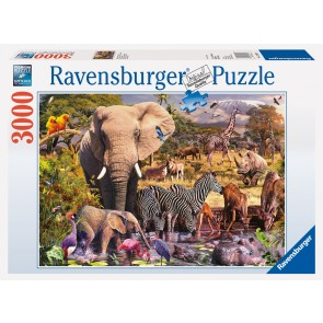 Rburg - African Animal World Puzzle 3000pc