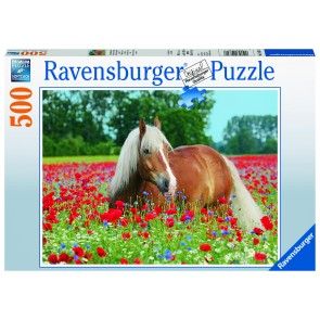 Horse in the Poppy Field Puzzle
