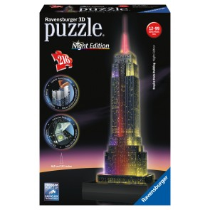 Rburg - Empire State at Night 3D Puzzle 216pc